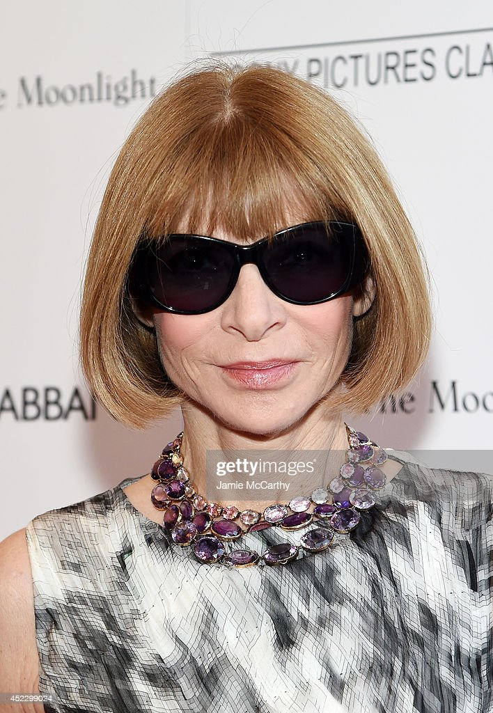 Editor-in-Chief of Vogue <a gi-track='captionPersonalityLinkClicked' href=/galleries/search?phrase=Anna+Wintour&family=editorial&specificpeople=202210 ng-click='$event.stopPropagation()'>Anna Wintour</a> attends the 'Magic In The Moonlight' premiere at the Paris Theater on July 17, 2014 in New York City.