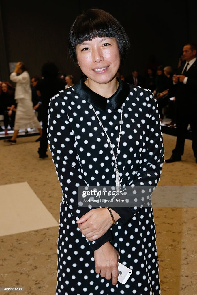 Editorinchief of Vogue China Angelica Cheung attends the Giambattista Valli show as part of the Paris Fashion Week Womenswear Spring/Summer 2015 on...