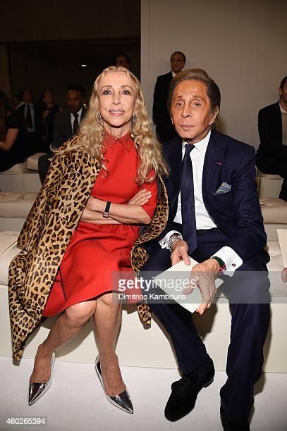 EditorInChief of Vogue Italia Franca Sozzani and Designer Valentino Garavani attend the Valentino Sala Bianca 945 Event on December 10 2014 in New...