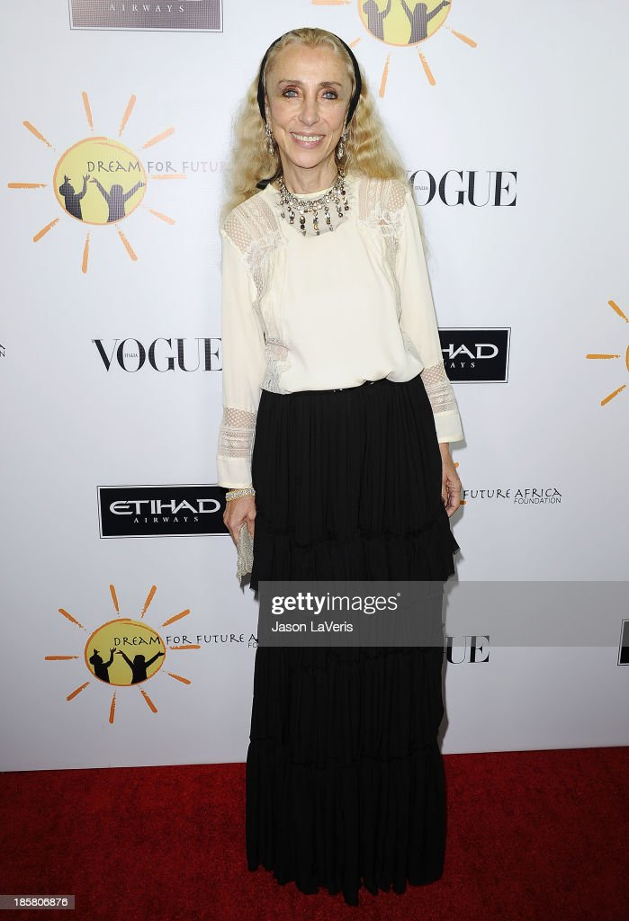 Editor-in-chief of Vogue Italia <a gi-track='captionPersonalityLinkClicked' href=/galleries/search?phrase=Franca+Sozzani&family=editorial&specificpeople=639425 ng-click='$event.stopPropagation()'>Franca Sozzani</a> attends the Dream For Future Africa Foundation gala at Spago on October 24, 2013 in Beverly Hills, California.