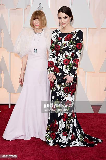 EditorinChief of 'Vogue' magazine Anna Wintour and Bee Shaffer attend the 87th Annual Academy Awards at Hollywood Highland Center on February 22 2015...
