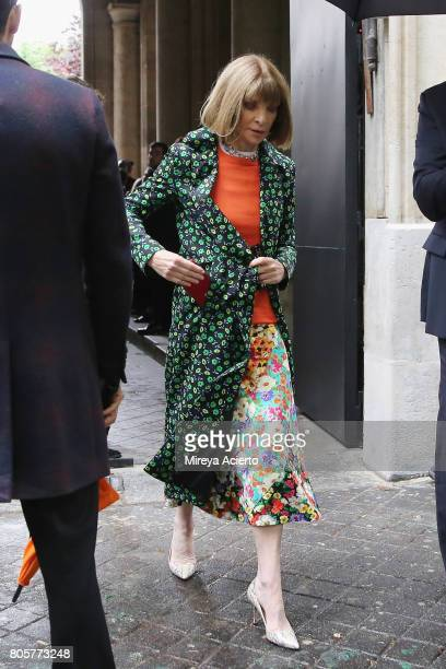 Editorinchief of Vogue magazine Anna Wintour attends the Proenza Schouler Haute Couture fashion show on July 2 2017 in Paris France