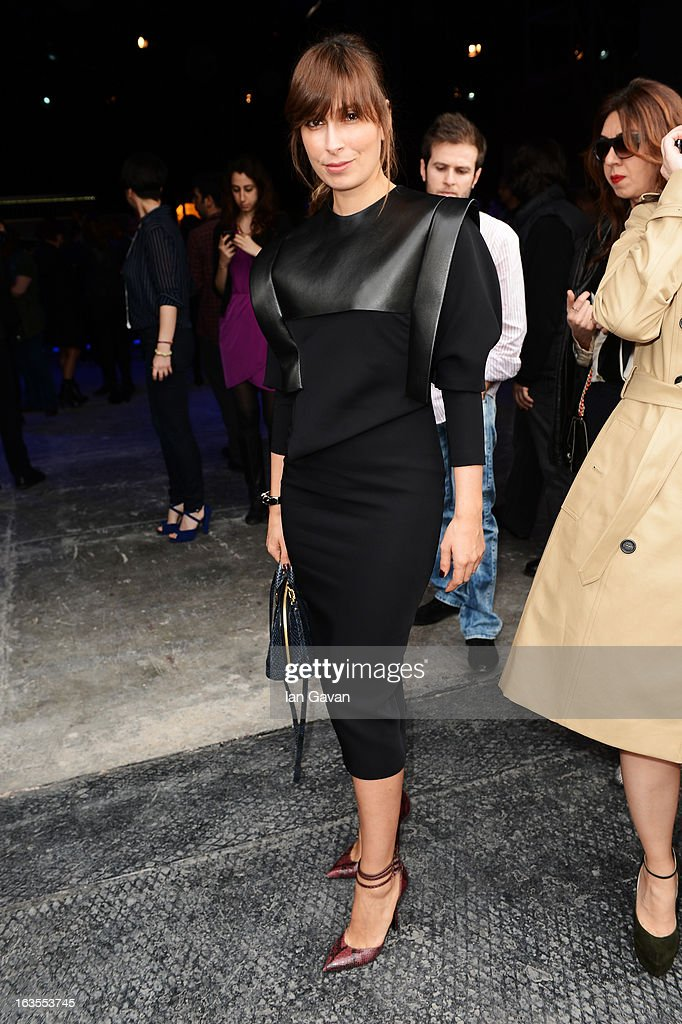 Editor-in-chief of Vogue Turkey Seda Domanic attends Mercedes-Benz Fashion Week Istanbul Fall/Winter 2013/14 at Antrepo 3 on March 12, 2013 in Istanbul, Turkey.