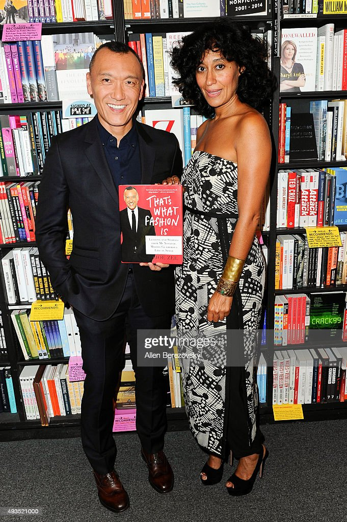 EditorInChief of Yahoo Style Joe Zee attends an instore conversation about his new book 'That's What Fashion Is' with actress Tracee Ellis Ross at...