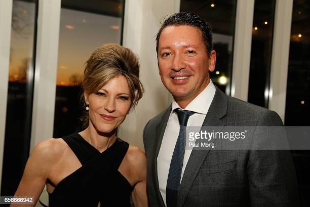 EditorinChief Robbie Myers and Bottega Veneta CEO of the Americas Dr Gerrit Ruetzel attend ELLE and Bottega Veneta Women in Washington dinner hosted...