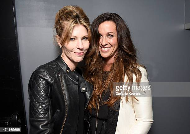 EditorinChief Robbie Myers and singer Alanis Morissette attend the 6th annual ELLE Women In Music celebration presented By eBay Hosted by Robbie...