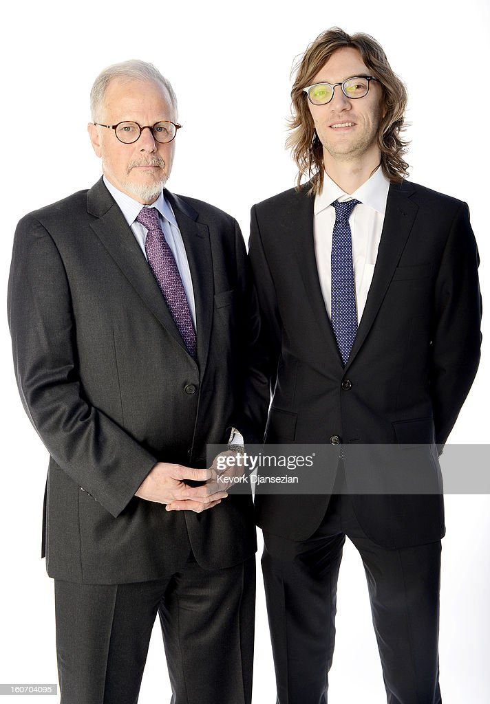 Editors Jay Cassidy and Crispin Struthers pose for a portrait during the 85th Academy Awards Nominations Luncheon at The Beverly Hilton Hotel on...