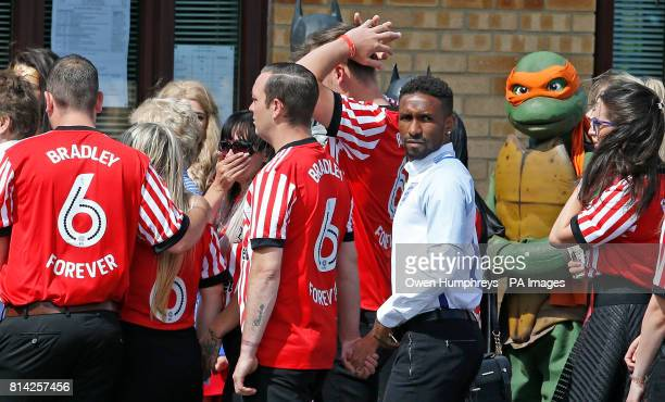 Editors note alternate crop Jermain Defoe during the funeral of Bradley Lowery the sixyearold football mascot whose cancer battle captured hearts...