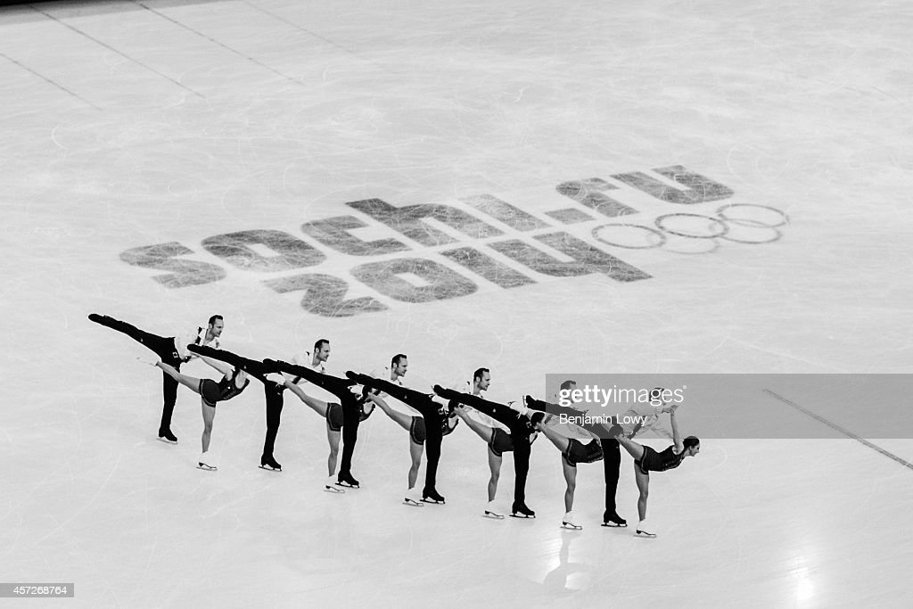 [Editors' Note Multiple Exposure] Maylin Wende and Daniel Wende of Germany perform during the Figure Skating Pairs Free Skating on day five of the...