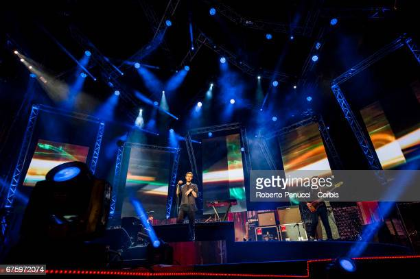 Editors perform in concert at 1st Of May Concert on May 01 2017 in Rome Italy