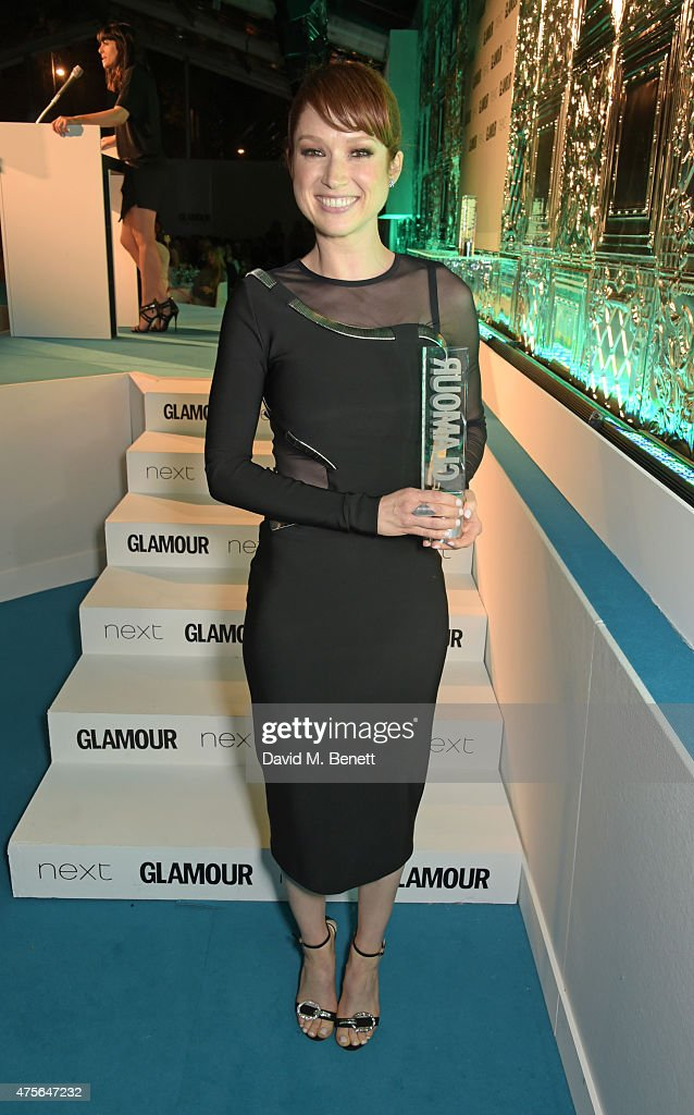 Editor's Special Award winner Ellie Kemper attend the Glamour Women Of The Year awards at Berkeley Square Gardens on June 2 2015 in London England