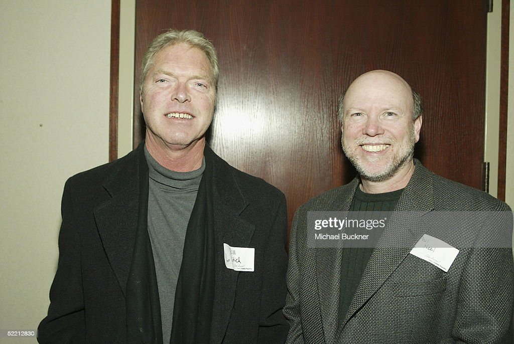 Editors William Stitch and Phil Neel pose at the nominee reception for the American Cinema Editors Eddie Awards on February 17, 2005 at the Kodak Atrium in Hollywood, California.