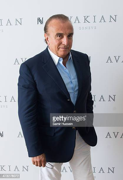 Edmond Avakian Avakian poses at The Avakian Suite during The 68th Annual Cannes Film Festival at Carlton Hotel on May 14 2015 in Cannes France