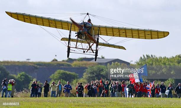 CITY Edmond Salis a French pilot takes off on a 'Bleriot XI' a restored original of the plane in which Louis Bleriot crossed the Channel 100 years...