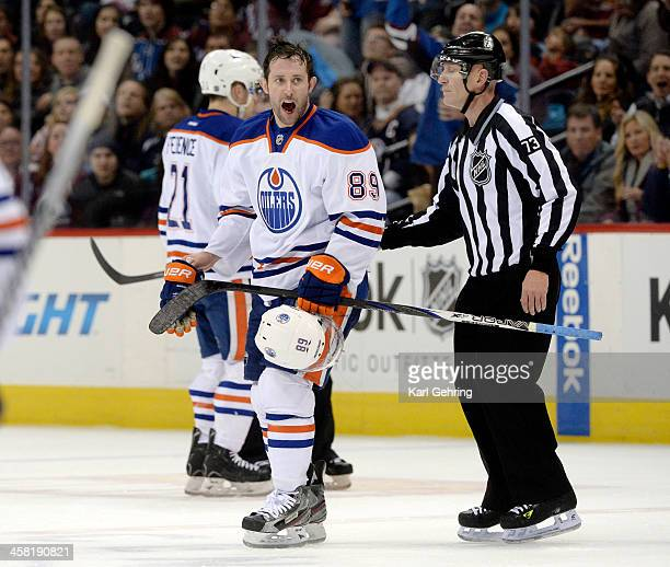 Edmonton center Sam Gagner was escorted off the ice following a game misconduct penalty for a brutal crosscheck to the face of Paul Stastny in the...