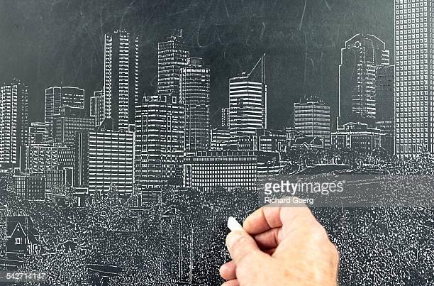 Edmonton chalk skyline