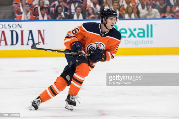 Edmonton Oilers Right Wing Kailer Yamamoto during the Edmonton Oilers game versus the Calgary Flames at Rogers Place in Edmonton AB