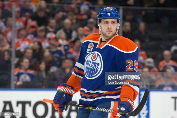 Edmonton Oilers Right Wing Leon Draisaitl takes a breather before a face off on March 7 2017 at Rogers Place in Edmonton AB The Islanders out played...