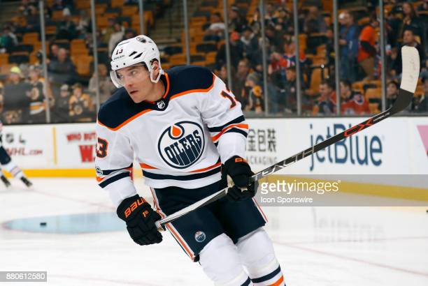 Edmonton Oilers right wing Michael Cammalleri before a game between the Boston Bruins and the Edmonton Oilers on November 26 at TD Garden in Boston...
