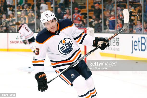 Edmonton Oilers right wing Michael Cammalleri skates during warm up before a game between the Boston Bruins and the Edmonton Oilers on November 26 at...