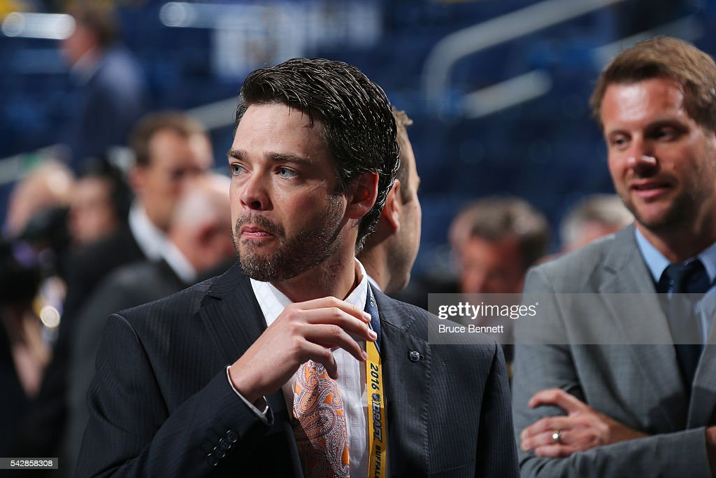 Edmonton Oilers scout James McGregor attends round one of the 2016 NHL Draft on June 24, 2016 in Buffalo, New York.