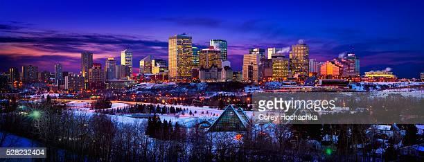 Edmonton Skyline During Winter