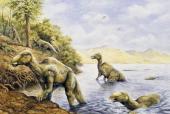 Edmontosaurus sp HadrosauridaeLate Cretaceous Illustration