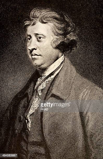 Edmund Burke Irish writer and politician Engraving in The American Revolution