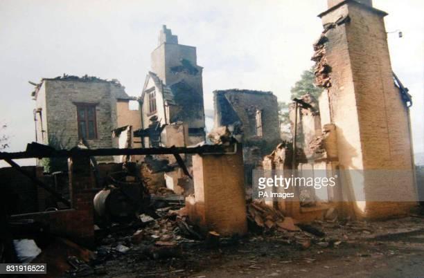 Edmund Carlisle's home Penyrwrlodd at Llanigon near HayonWye after it burnt to the ground