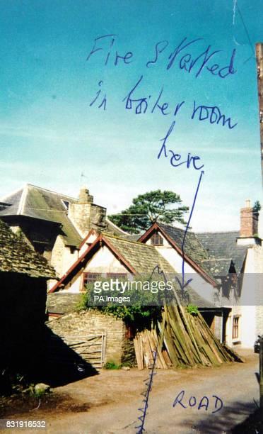 Edmund Carlisle's home Penyrwrlodd at Llanigon near HayonWye before it burnt to the ground