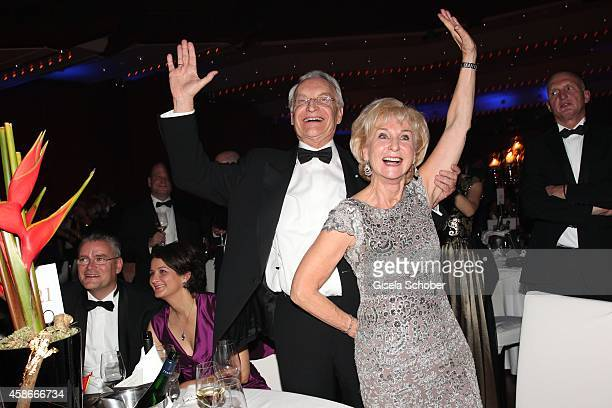 Edmund Stoiber and his wife Karin Stoiber during the 33 Deutscher Sportpresseball German Sports Media Ball 2014 at Alte Oper on November 08 2014 in...