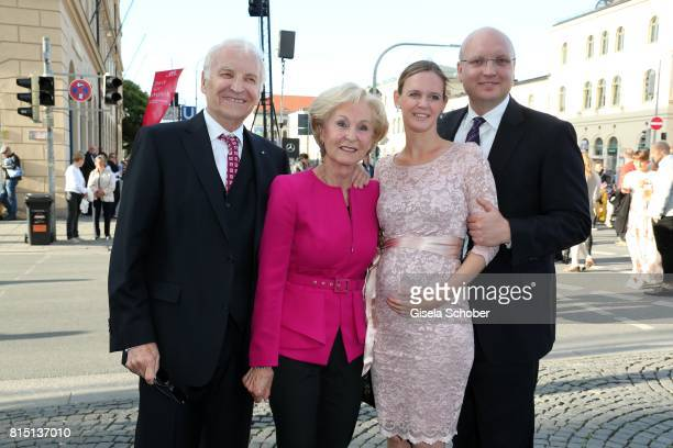 Edmund Stoiber and his wife Karin Stoiber his son Dominic Stoiber and his pregnant wife Melanie Stoiber at the MercedesBenz reception at 'Klassik am...
