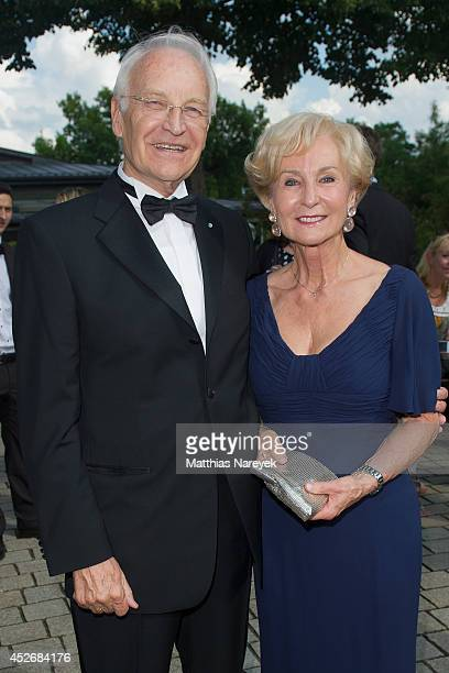 Edmund Stoiber and Karin Stoiber attend the Bayreuth Festival Opening 2014 on July 25 2014 in Bayreuth Germany