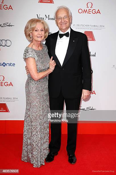 Edmund Stoiber and Karin Stoiber attend the German Film Ball 2014 on January 18 2014 in Munich Germany