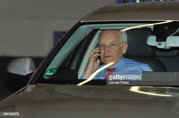 Edmund Stoiber former bavarian state prime minister and FC Bayern Muenchen executive board member leaves a meeting of the FC Bayern Muenchen...