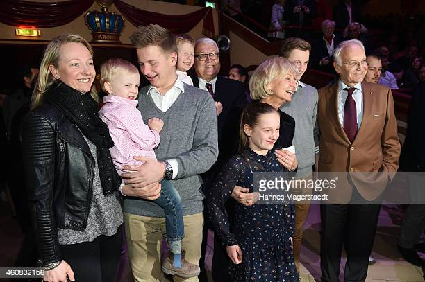 Edmund Stoiber with his family during the 'Circus Krone Christmas Show 2014' at Circus Krone on December 25 2014 in Munich Germany