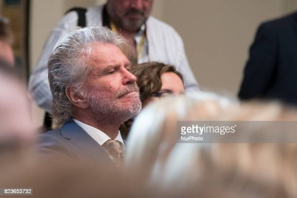 Edmundo Arrocet AKA Bigote Arrocet attends the 'Medals to Merit in Work' delivery at Moncloa palace July 27 2017 in Madrid Spain