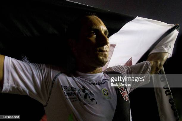 Edmundo bids farewell to fans during a match between Vasco da Gama and Barcelona of Quayaquil as part of Edmundo's farewell match at Sao Januario...