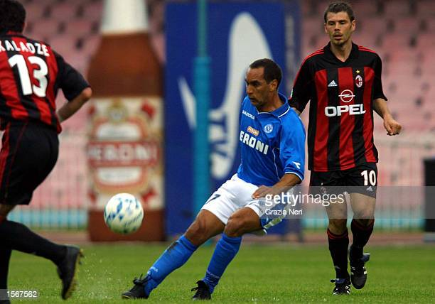 Edmundo of Napoli in action during the Serie A 25th Round League match between Napoli and AC Milan played at the San Paolo Stadium Napoli DIGITAL...