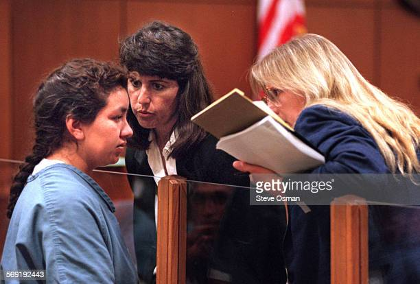 Edna Reyes 31 at her arraignment in Ventura County court on charges she shot to death her husband in front of two Oxnard police officers who were...