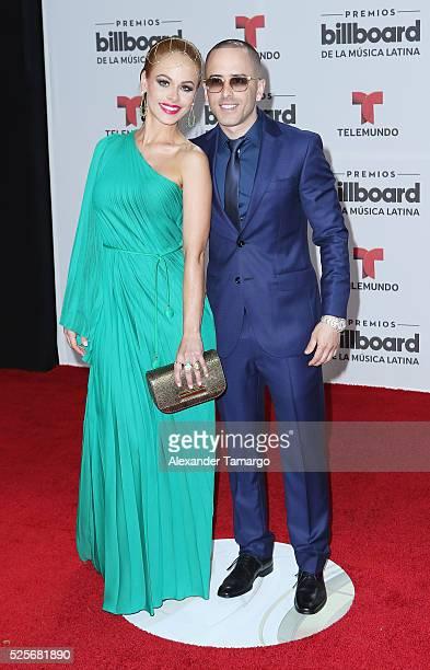 Edneris Espada Figueroa and Yandel attend the Billboard Latin Music Awards at Bank United Center on April 28 2016 in Miami Florida
