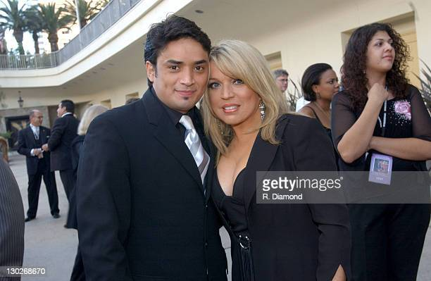 Ednita Nazario and guest during 2004 Latin Recording Academy Person of the Year Tribute Event Honoring Carlos Santana at Century Plaza Hotel in Los...