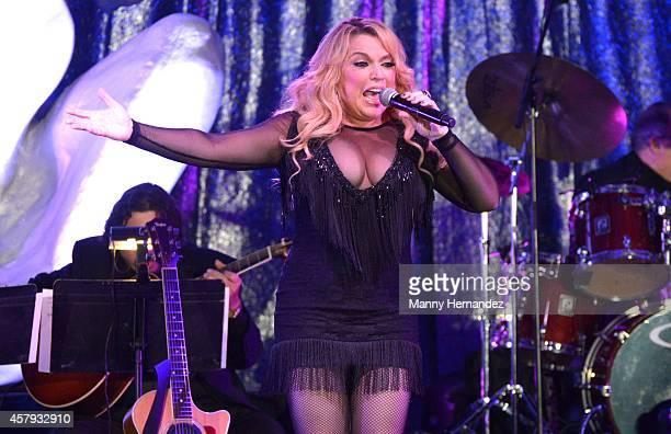 Ednita Nazario attends Latin Songwriters Hall Of Fame La Musa Awards at Ritz Carlton South Beach on October 18 2014 in Miami Beach Florida