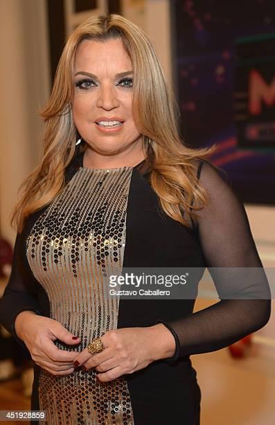 Ednita Nazario participates in 'Mira Quien Baila' Grand Finale at Univision Headquarters on November 24 2013 in Miami Florida