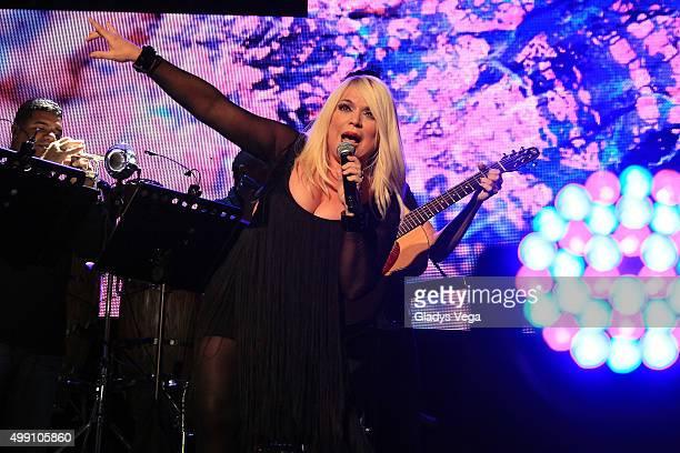Ednita Nazario performs as part of KQ Live Concert at Coliseo Jose M Agrelot on November 28 2015 in San Juan Puerto Rico