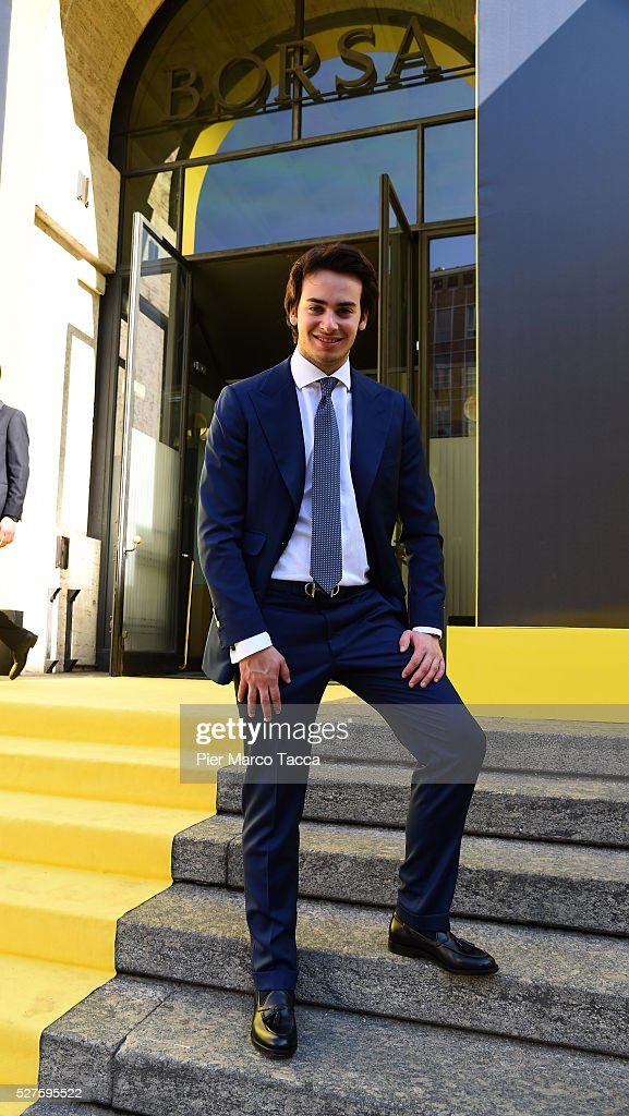 Edoardo Alessandri attends the Technogym Listing Ceremony at Palazzo Mezzanotte on May 3, 2016 in Milan, Italy. Technogym is the world leader in the construction of equipment for gyms, founded in 1983 by Nerio Alessandri, and was listed today on the Milan Stock Exchange.