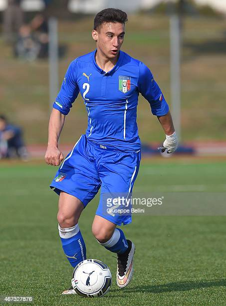 Edoardo Bianchi of Italy in action during the international friendly match between U16 Italy and U16 Germany on March 18 2015 in Recanati Italy