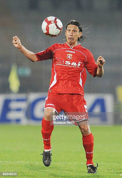 Edoardo Catinali of AC Ancona in action during the Serie B match between Ascoli Calcio and AC Ancona at Stadio Cino e Lillo Del Duca on November 21...