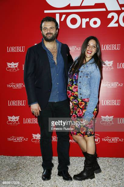 Edoardo De Angelis and his wife attend Ciak D'Oro 2017 at Link Campus University on June 8 2017 in Rome Italy