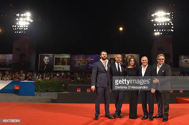 Edoardo De Angelis Marco D'Amore Simona Tabasco Luca Zingaretti and Giampaolo Fabrizio attend 'Perez' Premiere during the 71st Venice Film Festiva on...